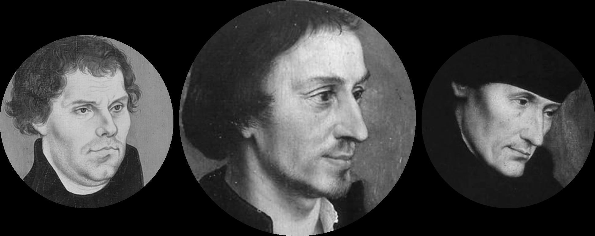 Luther, Melanchthon, Erasmus