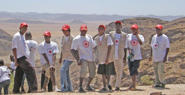 Volontärer i Namiba